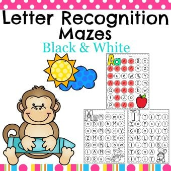 Letter Worksheets - Preschool Alphabet worksheets for kids