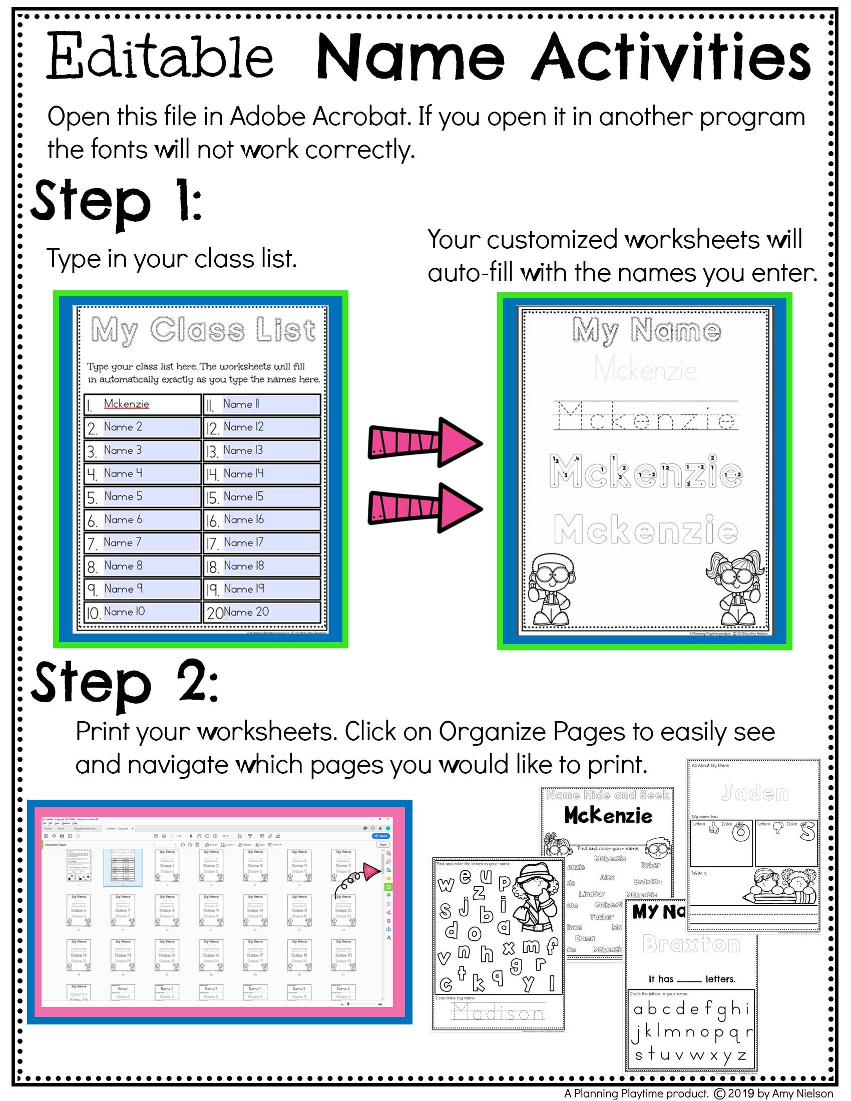 - Name Tracing Worksheets - Planning Playtime