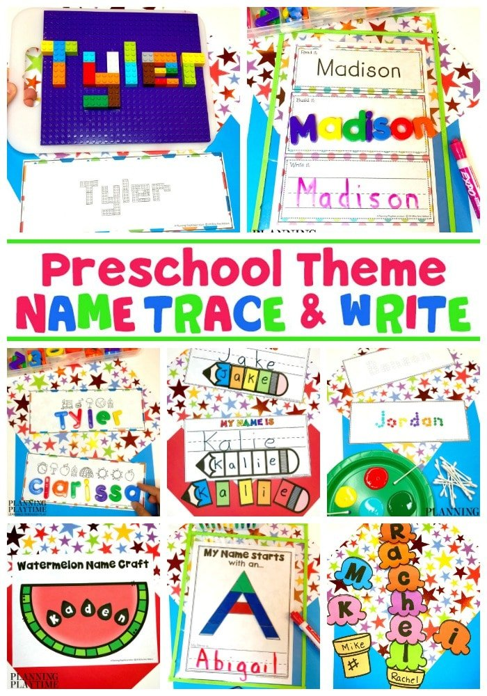 Name Tracing Worksheets and Activities for Preschool - Editable #preschoolworksheets #nameworksheets #preschoolprintables #nametracing #backtoschool #planningplaytime