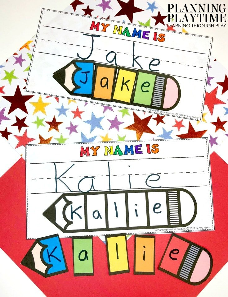 Name Tracing Worksheets and Printables for Preschool Name Crafts #preschoolworksheets #nameworksheets #preschoolprintables #nametracing #backtoschool #planningplaytime
