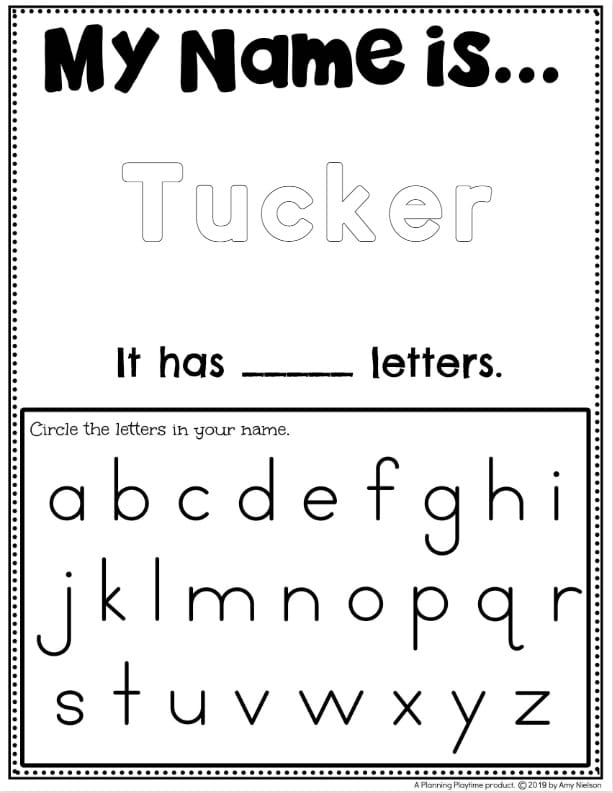Name Tracing Worksheets - Planning Playtime