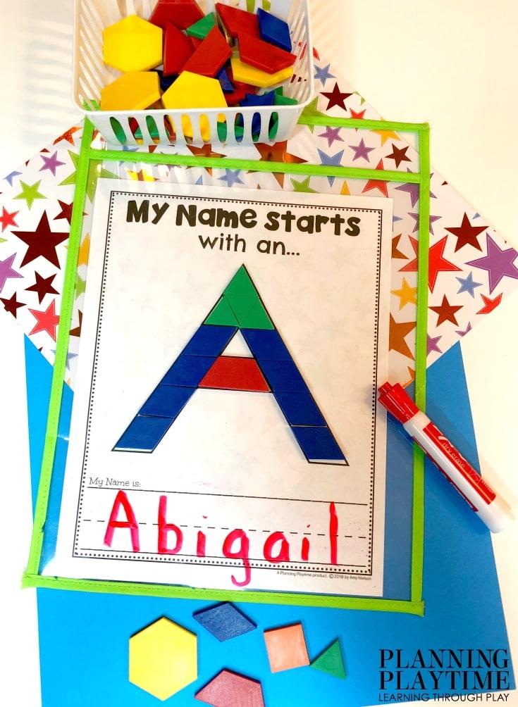 Name Writing Worksheets for Preschool - Name Activities and Printables #preschoolworksheets #nameworksheets #preschoolprintables #nametracing #backtoschool #planningplaytime