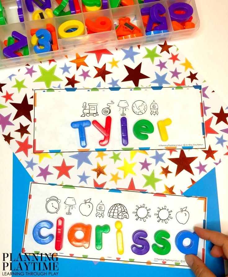 Preschool Name Worksheets and Activities - Editable! #preschoolworksheets #nameworksheets #preschoolprintables #nametracing #backtoschool #planningplaytime