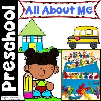 All About Me Activities Preschool Cover