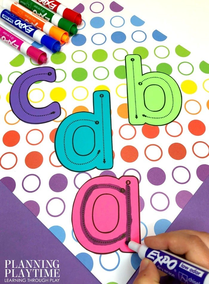 Letter Formation Activites to teach Letter Recognition #lettertracing #letterworksheets #alphabetworksheets #preschoolworksheets #preschoolactivities #alphabetactivities #planningplaytime