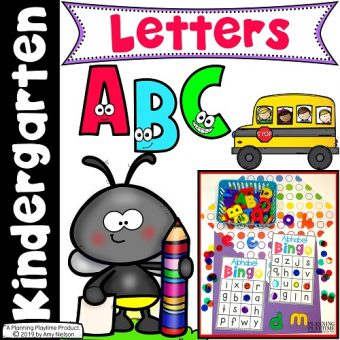 Alphabet Worksheets and Activities Cover