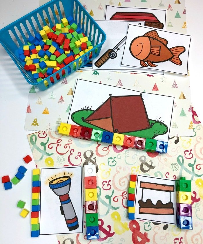Measurement Activity for Preschool Camping Theme #preschoolactivities #preschoolprintables #campingtheme #planningplaytime