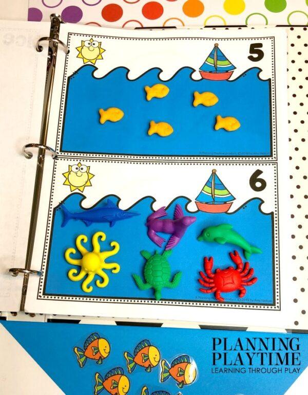 Preschool Counting Activities Binder - Summer Theme