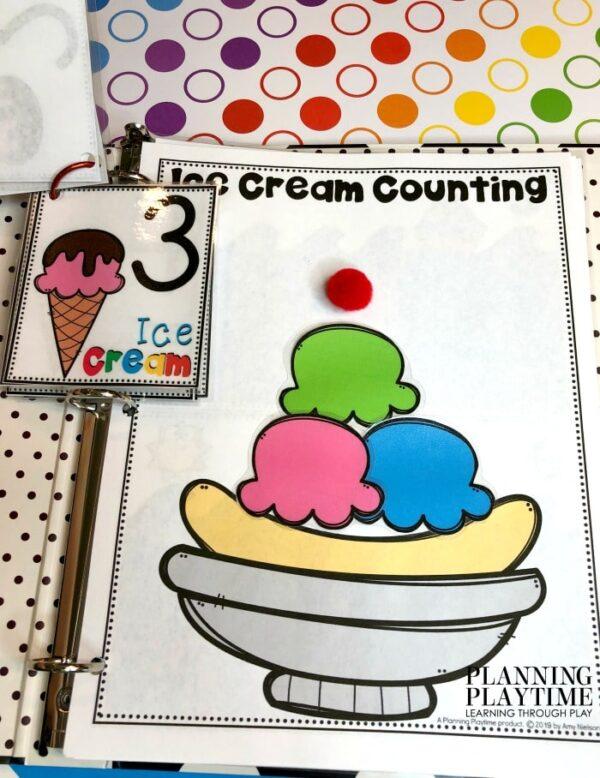 Preschool Counting Activities Summer Theme - Interactive Counting Binder