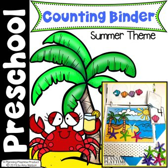 Preschool Counting Binder Summer Cover