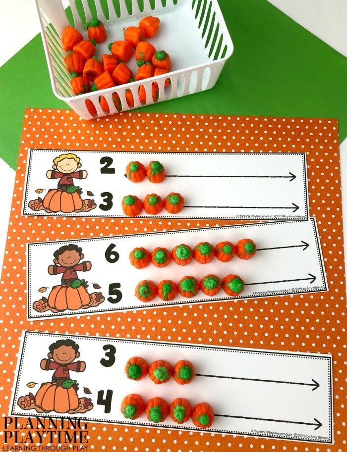 Preschool Counting Mats - Count and Compare Numbers