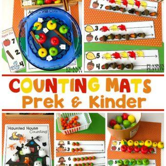 Preschool Counting Mats for Fall - So fun!