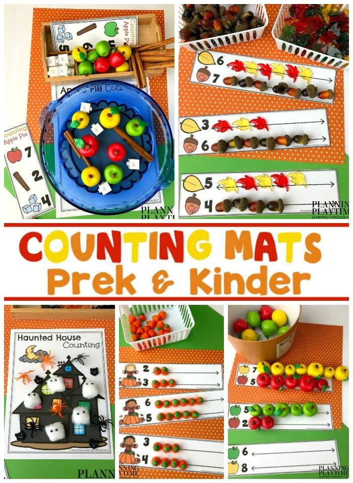 Preschool Counting Mats for Fall - So fun!