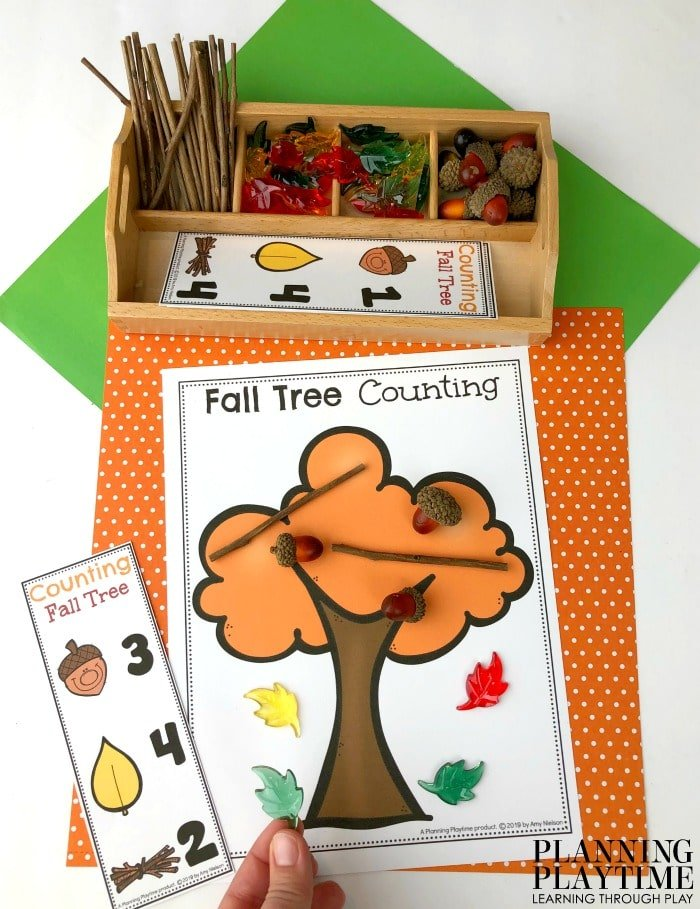 Preschool Counting Mats for Fall