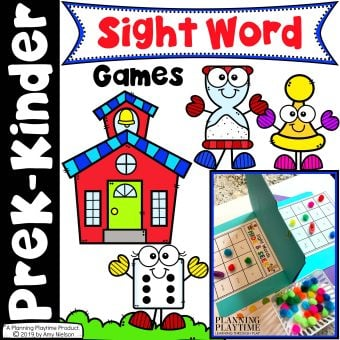 Sight Word Games for kids - Kindergarte sight words activities