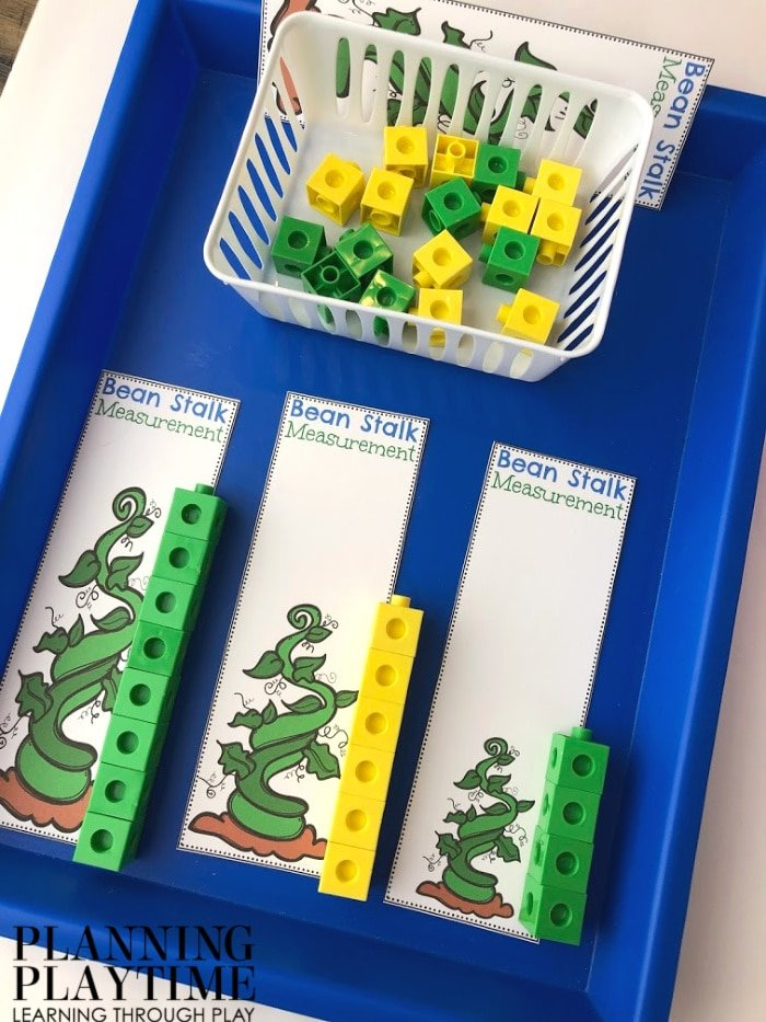 Measurement Activity for Preschool Fairy Tale Theme - Jack and the Beanstalk