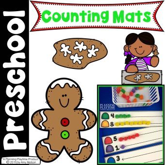 Gingerbread Man Activities - Counting Mats for Preschool