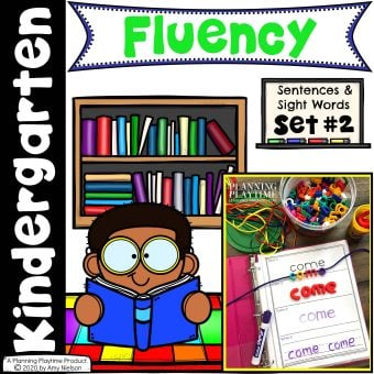 Kindergarten Reading Fluency Sentences