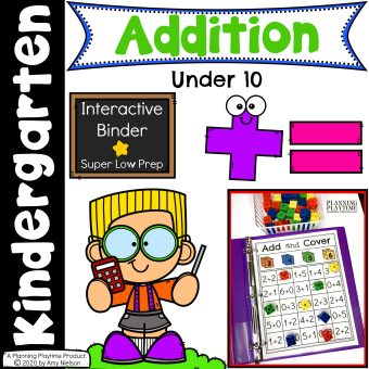 Addition Activities Binder Cover