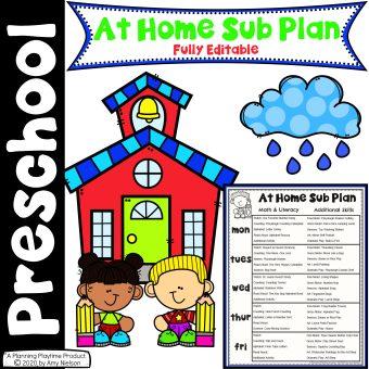 Send Home Sub Plans - Week 1