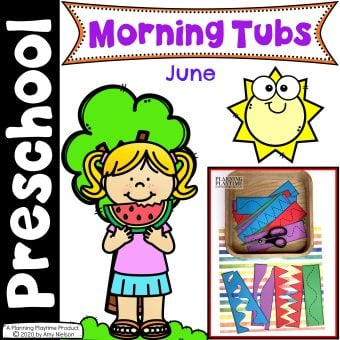 Morning Tubs for Preschool - June