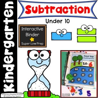 Subtraction Activities Binder