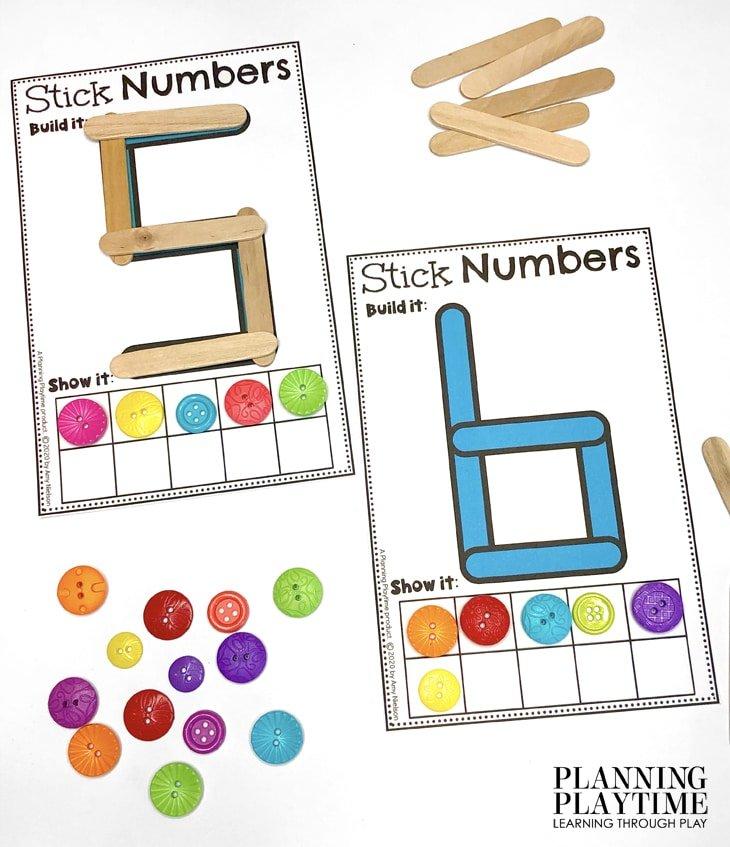 Math Activities for Preschool Morning Tubs