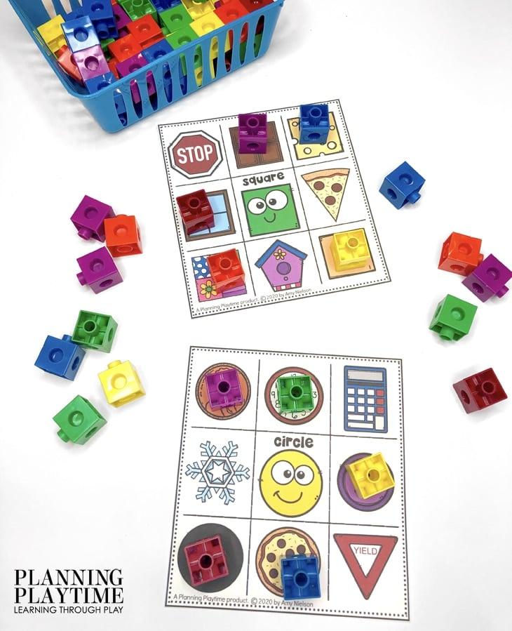 Preschool Activities Shapes - Matching Shapes