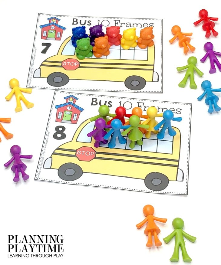 Preschool Math Activities - 10 Frames