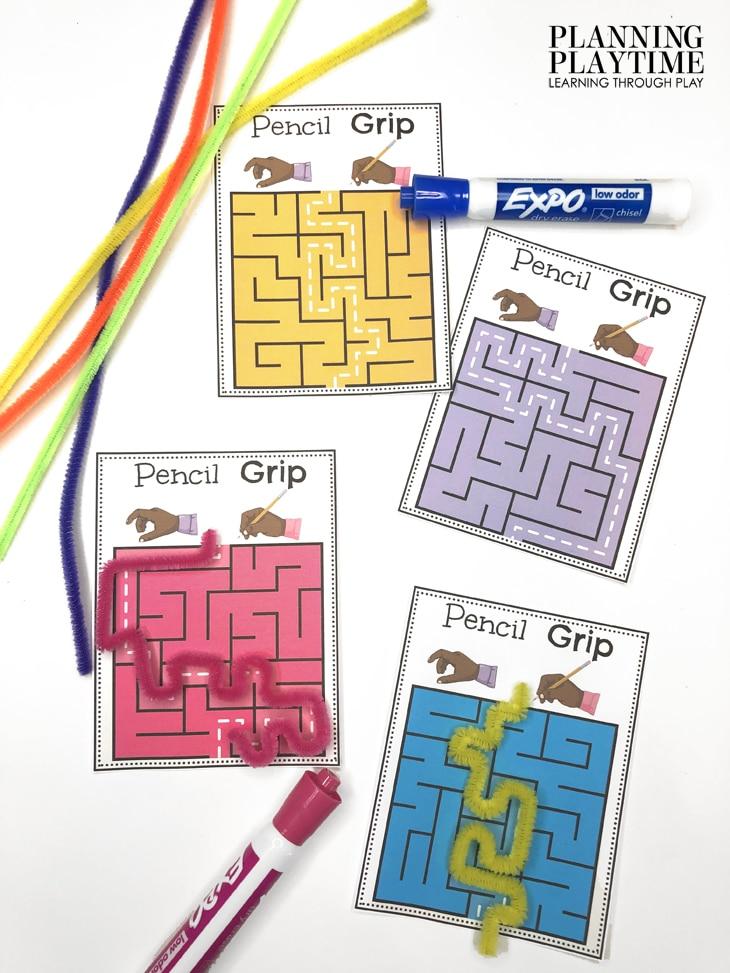 Preschool Tracing Activities - Pencil Grip Practice and Fine Motor