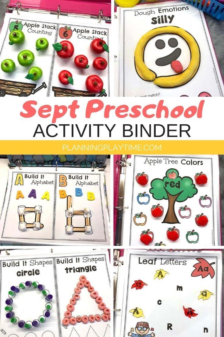 September Preschool Binder - Planning Playtime