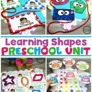 2D Shapes Activities for Preschool #preschoolshapes #2dshapes #shapesworksheets #shapesactivities #planningplaytime