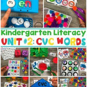 CVC Words - Kindergarten Word Work. So fun! #CVCwords #kindergarten #planningplaytime