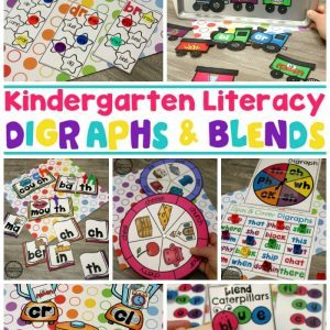 Digraphs Worksheets and Games - Kindergarten Word Work #digraphs #wordwork #planningplaytime