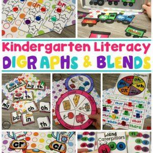 Digraphs Worksheets and Games - Kindergarten Word Work #digraphs #wordwork #planningplaytime