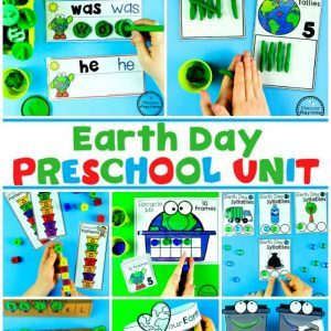 Earth Day Activities for Preschool or Kindergarten #planningplaytime #earthday #preschool #preschoolworksheets