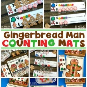 Gingerbread Man Activities for Preschool - Counting Mats