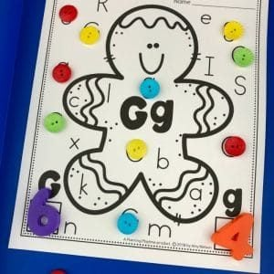 Gingerbread Man Alphabet Activities for Preschool