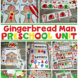 Gingerbread Man Printables for Preschool #gingerbreadmanprintables #gingerbreadmanworksheets #gingerbreadmantheme #preschool #preschoolworksheets #planningplaytime
