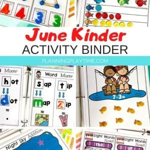 Kindergarten Activities Binder for June