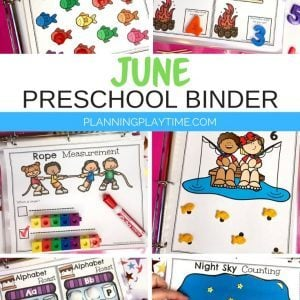Preschool Activities Binder for June - Preschool Skills Binder
