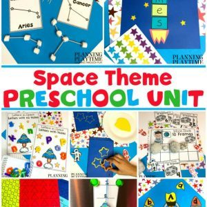 Preschool Space Theme Activities and Printables #spacetheme #preschoolworksheets #preschoolactivities #preschoolprintables