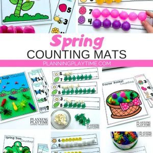 Spring Counting Mats for Preschool