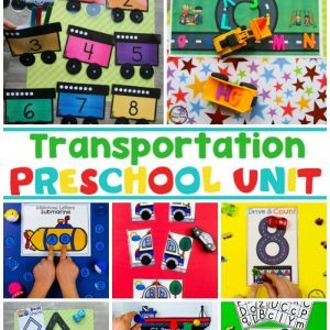 Transportation Worksheets and Centers - Preschool Theme #preschool #transportationunit #planningplaytime