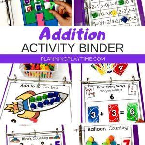 Addition Activities for Kids - Interactive Math Binder