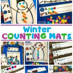 Winter Activities for Preschoolers - Winter Counting Mats